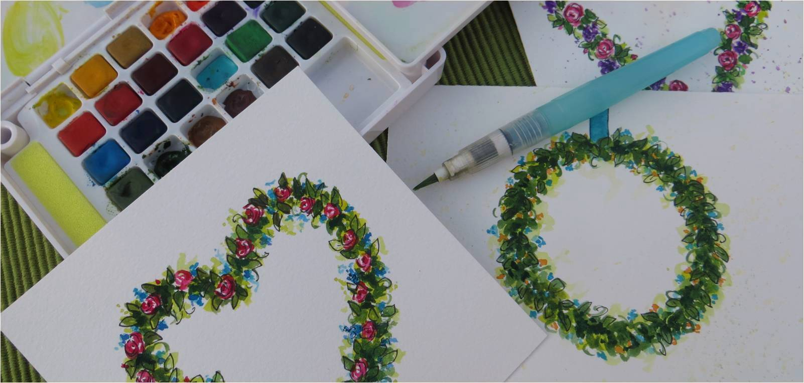 how to paint a watercolor flower wreath my flower journal