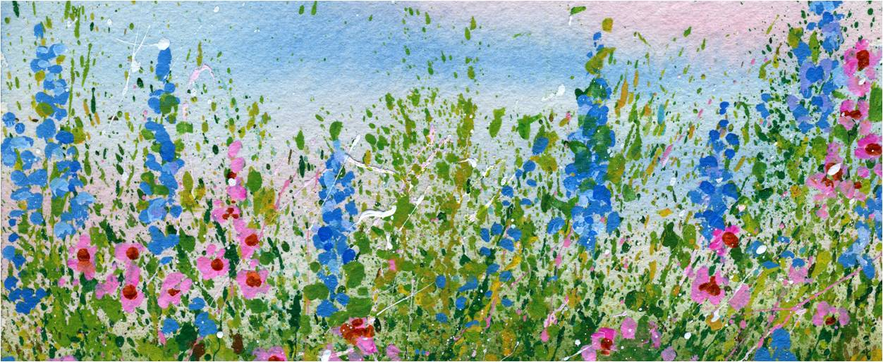 create a splattered paint flower garden my flower journal - Flower Garden Paintings