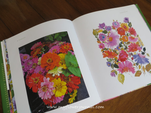 Flower Painting inspiration from Kim Parker-myflowerjournal.com