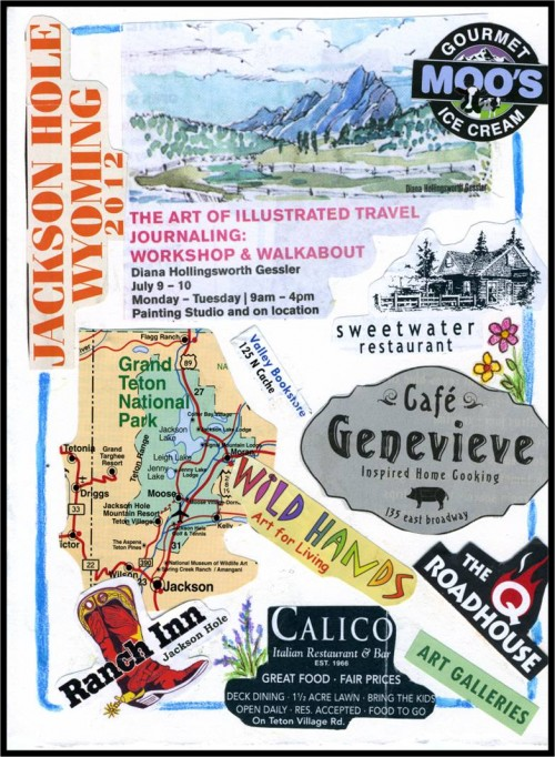 Travel Collage Journal Ideas-Jackson Hole-myflowerjournal.com