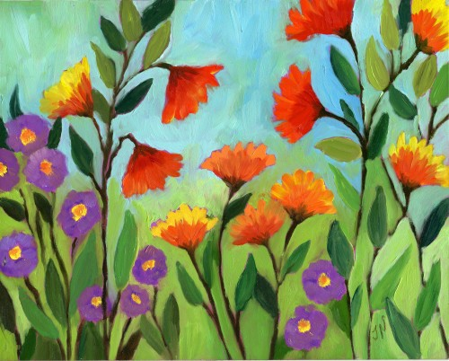 My Flower Art oil painting-myflowerjournal.com