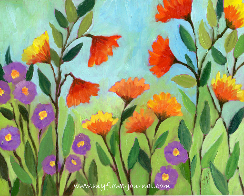 Flower art inspiration my flower journal for Flower paintings on canvas