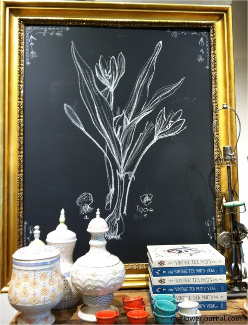 How to do Anthropologie inspired flower chalk art-myflowerjournal