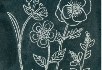 Anthropologie Inspired Flower Chalk Art