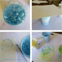 Fall Botanical Bubble Art-Bubble Painting Process-myflowerjournal