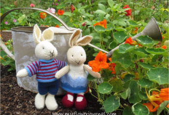 Little Knit Bunnies In The Garden