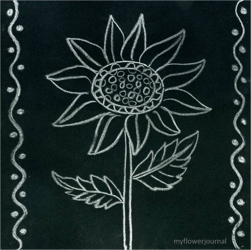 Tutorial-Anthropologie Inspired Chalk Art Journal Page-myflowerjournal