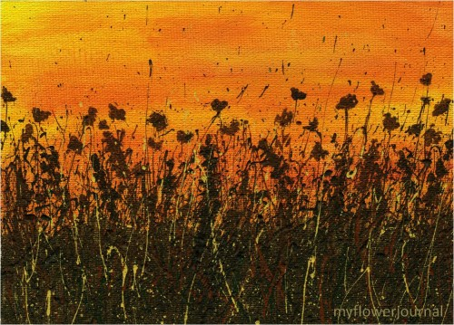Fall Sunset Splatter Painting-myflowerjournal