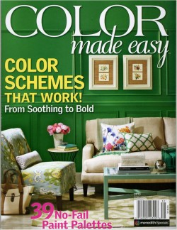 BHG Color Made Easy Magazine used to paint color swatches in watercolor-myflowerjournal.com