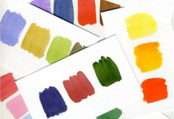 Color Swatches in Watercolor