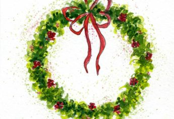 How To Paint A Watercolor Christmas Wreath