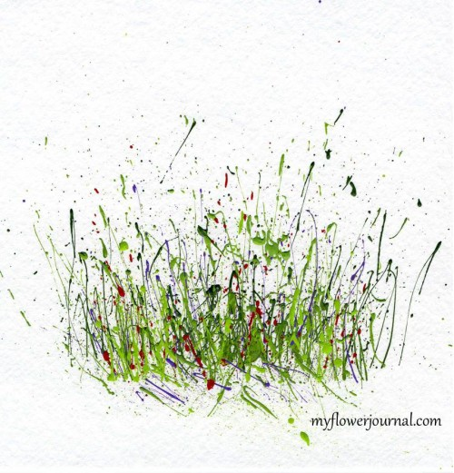 Paint Splattered Background before adding flowers-myflowerjournal