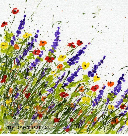 Splatter Painting from a different angle-myflowerjournal