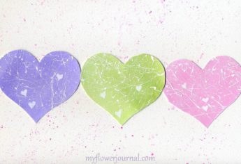 Pastel Splattered Hearts for Valentines