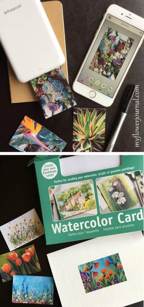 I love using my Poloroid ZIP mobile printer to print photos from my iphone or ipad to use in my travel journal or for other craft projects-myflowerjournal