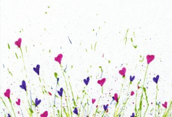 Free Printable For Splattered Paint Flower Art