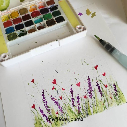graphic regarding Free Printable Watercolor Pictures to Paint known as Free of charge Printable For Splattered Paint Flower Artwork - My Flower