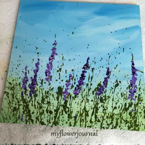 Splattered Paint Flower Art with Fluid Golden Acrylics-myflowerjournal