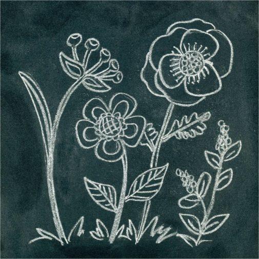 How to create Anthropology Inspired Chalk Flower Art-myflowerjournal.com