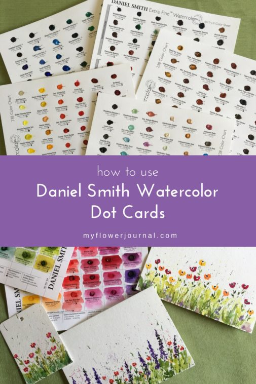 Its so fun to play with Daniel Smith watercolor dot cards and try new colors and create cards and other small projects. From myflowerjournal.com