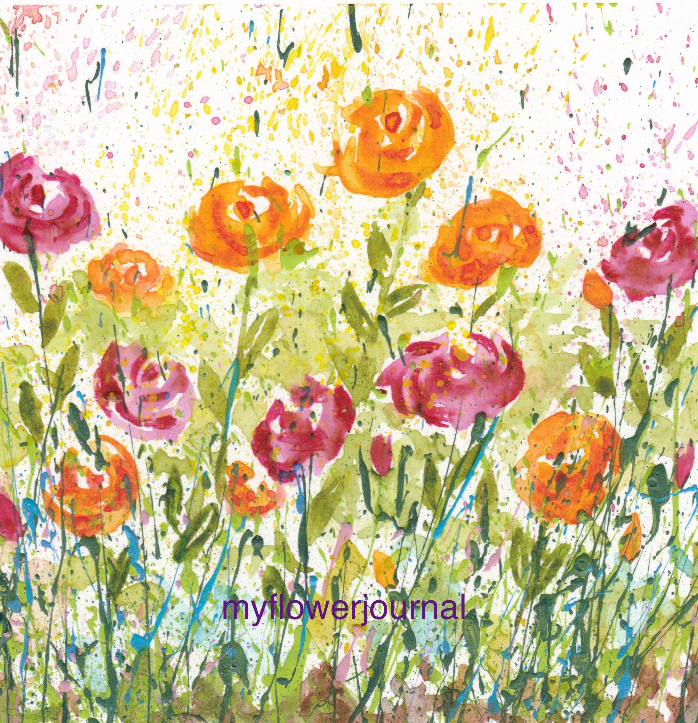 Using Flower Photos For Splattered Paint Art Inspiration