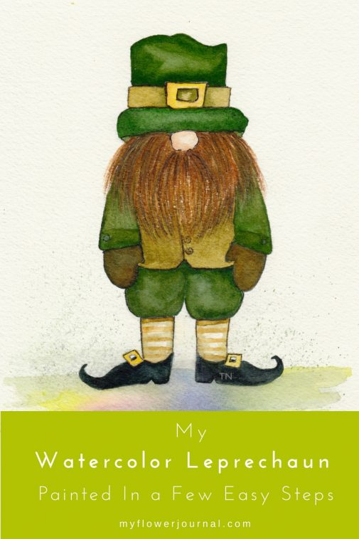 Follow my tutorial to Paint A Watercolor Leprechaun In A Few Easy Steps