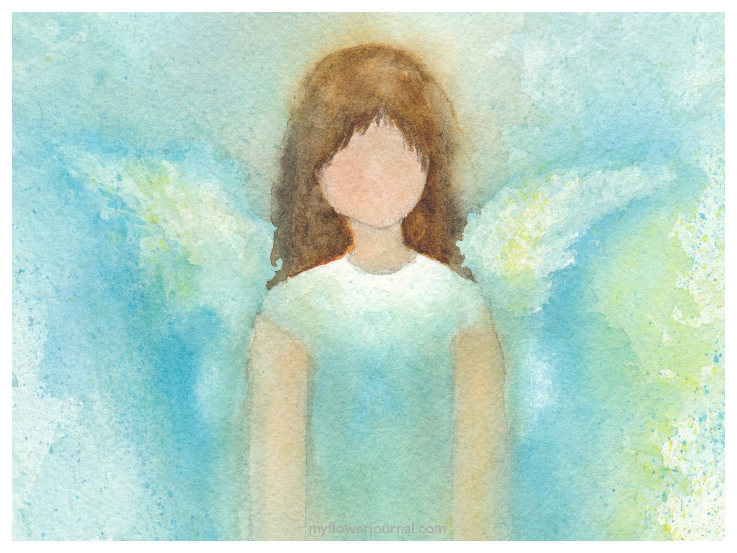 Angel in Watercolor - My Flower Journal
