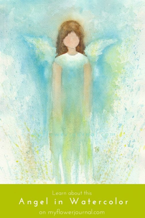 Learn how I created this beautiful angel in watercolor on myflowerjournal.com