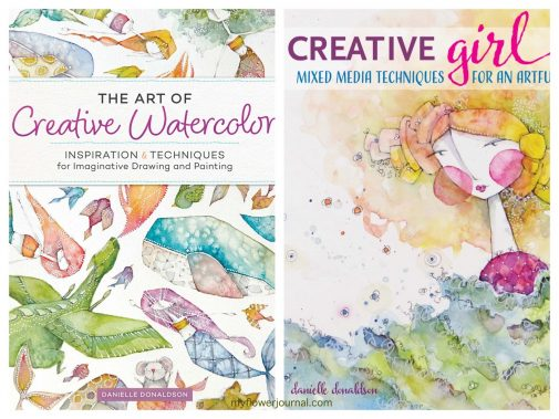 I love Danielle Donaldson's online art classes and books. They are full of whimsy, color and helpful watercolor techniques. myflowerjournal.com