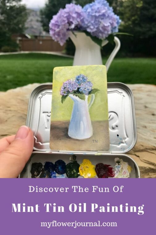 Check this out! What a great way to use an Altoid Tin! Discover the fun of Mint Tin Oil Painting! From myflowerjournal.com
