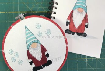 Gnome Drawing to Watercolor or Embroider