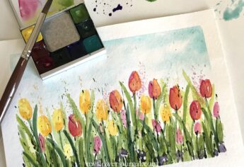 Easy Watercolor Tulip Tutorial
