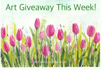 Flower Art Giveaway This Week